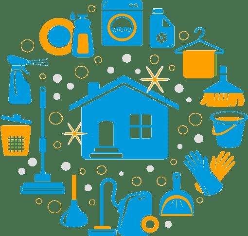 الرئيسية house clean icons